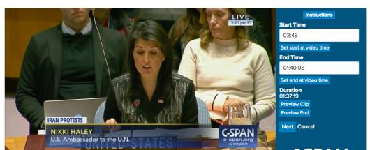 US Ambassador the UN at UN Security Council Meeting, 1/5/18